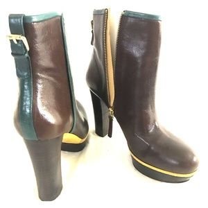 Nine West Ankle Boots Leather Size 8